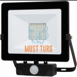 Floodlight with motion sensor 30W 230V 2500lm IP54 Kobi