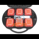 Warning light set 6 rechargeable lights yellow synchronizable