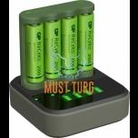 Batteries 4xAA 2100mAh with USB battery charger AA / AAA GP