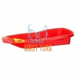 Plastic sled with size 90.5x41x17cm red