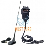 CB radio station PNI Escort 62 with antenna 40 channels AM / FM power 4W