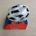 Bicycle helmet Abus Macator white silver L 58-62cm 340g