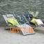 Lamamistool Brigo alumiiniumraamiga 177x65x73cm helehall