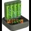 Akupatareid 4xAA 2100mAh koos USB akulaadijaga AA/AAA GP
