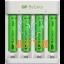 Batteries 4xAAA 850mAh with USB battery charger for AA / AAA GP batteries